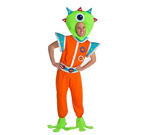 Marsmännchen Kostüm für Herren - XL Spaßkostüm - Lustige Marsmensch Alien Außerirdischer Verkleidung