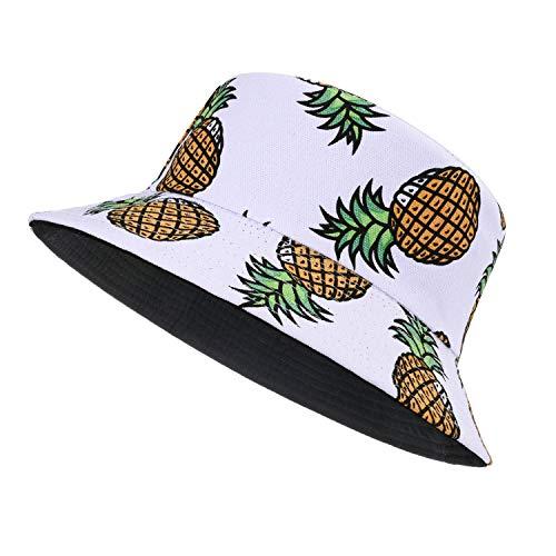 MengPa Sombrero unisex de verano de viaje de sol pescador sombreros reversibles