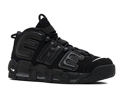 Nike Air More Uptempo Supreme - Black/Black-White Trainer Size 9.5 UK