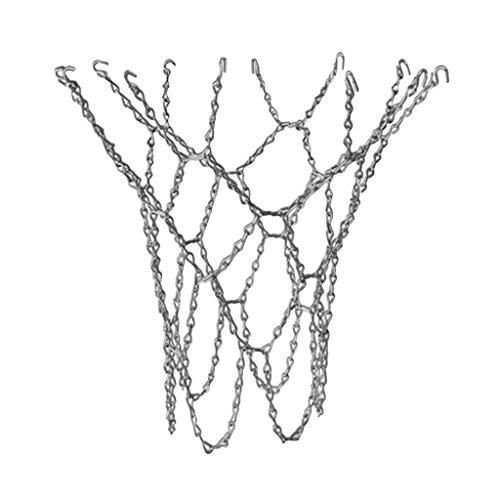 sharprepublic Red de Baloncesto de Metal Red de Baloncesto Cesta de Baloncesto Cadenas de Acero Baloncesto
