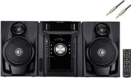 Sharp 240-Watt All-in-One Hi-Fi Audio Stereo Sound System with 5-Disc Multi-Play CD Changer, Cassette Deck, AM/FM Radio Tuner, Remote Control