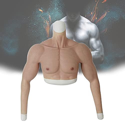 ZhiLianZhao Silikon Gefälschte Muskelanzug, Enhancer Brust Shapewear Halbkörper mit Hoher Flexibilität, Weich, Leicht Reinigen für Maskerade Kostüm Cosplay