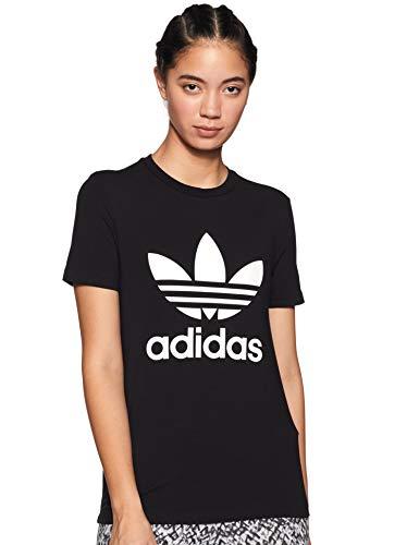 adidas Damen Trefoil Tee T-Shirt, Schwarz (Black/White), D38