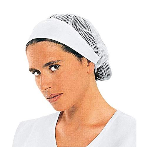 ISACCO - Cuffia Donna Con Rete Bianco Cotone - UNICA