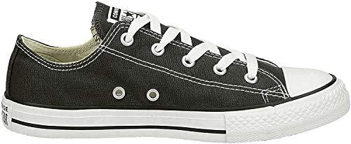 Converse Kids' Chuck Taylor All Star Canvas Low Top Sneaker, Black, 3 M US Little Kid