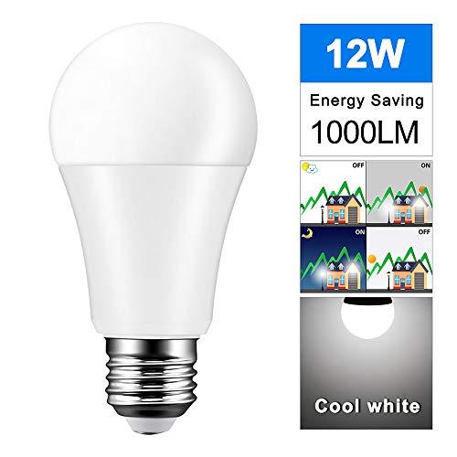 ERJQ Ledlamp, nieuw LED-licht aangestuurd lamp 8 W-12 W 5700 K (lichtwit), 620 lumen, Enclosed Fixture Rated, dimbare plafondventilator gloeilampen, E27 medium basis