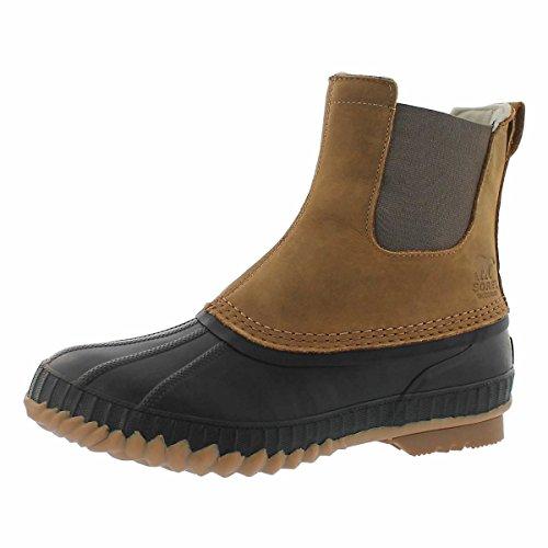 Sorel Mens Cheyanne II Chelsea Snow Boot, Elk/Black, Size 8