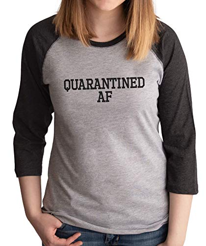 7 ate 9 Apparel Women's Quarantined AF Grey Shirt Small