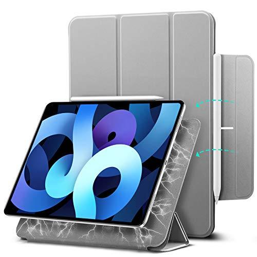 ESR Magnetische Hülle für iPad Air 10.9 2020(4.Generation) & iPad Pro 11 2018 [Pencil 2 Kompatibel] [Trifold Smart Hülle] Rebo&-Serie, Grau.
