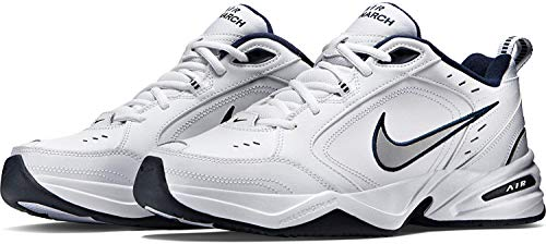 Nike Air Monarch IV, Zapatillas de Gimnasia para Hombre, Blanco (White/Metallic Silver/Midnight Navy 102), 41 EU