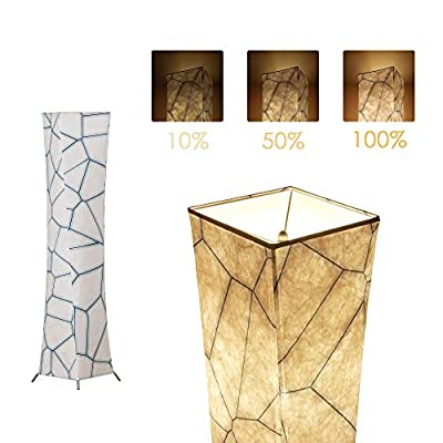 CHIPHY Creative Floor Lamp,LED Soft Lighting,Minimalist Modern Standing Light with White Fabric Shade & 2 LED Bulbs with Warm Atmosphere,Cozy Lamps for Living Room, Bedroom,Hotel,Office.SF21X-107(A)