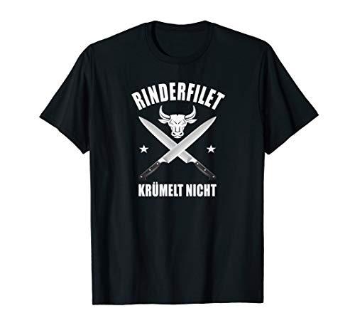 Lustiger Spruch TShirt Rinderfilet krümelt nicht T Shirt BBQ T-Shirt