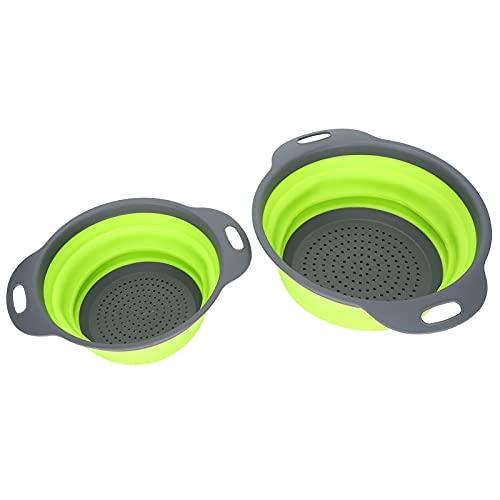 Avloppskorg, grön diskmaskin säker matfilter infällbar multifunktionell vattenfilter korg dammfilter vikbar för restaurang för kök