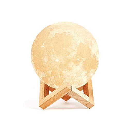 WYNZYBD Moon Light, Impression 3D Moon Globe Light Multi-tailles De Remplacement Lumineux Moon Light 3 Couleurs (blanc Froid Et Chaud, Jaune), Clair De Lune Décoratif Pour Enfants, Anniversaire, Cheve