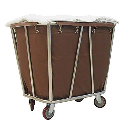 Carro de hospital, estante para suministros médicos, carro médico, carrito clasificador de ropa rodante comercial de servicio pesado con ruedas, contenedor con ruedas para hotel con bolsa extraíble, b