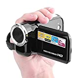 Portable DV Consumer Digital Video Camcorder 16MP Camera HD Mini DV Video Recorder with 1.5 inches LCD Screen for Home Use (Black)