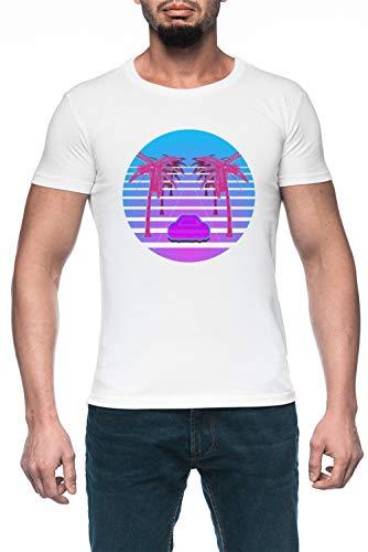 Conducir Abajo Vapor Ola Hombre Blanco Camiseta Manga Corta Men's White T-Shirt