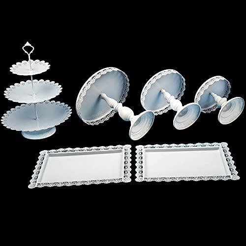 maXpeedingrods 6 soportes para tartas de boda, color blanco