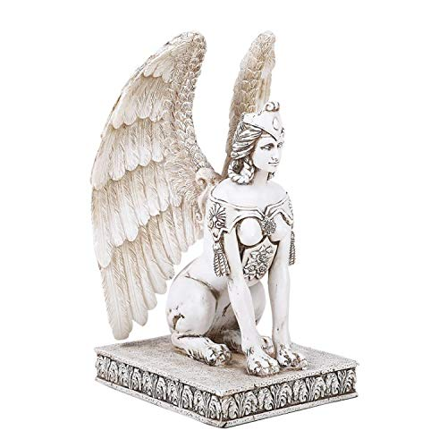 Pacific Giftware Mythology Greek Greco Roman Winged Sphinx Resin Figurine Statue