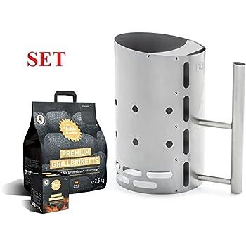 TOM COCO Grill-Kokoskohlebriketts 2er-Pack FEUERGOTT KS3480 Anz/ündkamin Premium BIG XXL 6 kg