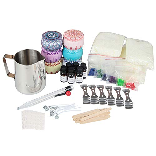 Soy Wax Candle Making Kit, Complete Set of Fun and Easy to Make Art and Craft Candle Supplies, A Gift Kit Set of 6pcs, Enjoy Your Hobby, Enjoy Your Creation - Cradle of Light