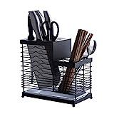 wantanshopping Scaffali Cucina Multifunzionale Cucina Rack in Acciaio Inox di stoccaggio Rack Cutter Bacchette Rack di stoccaggio con Scarico Pan Scaffale da Panettiere