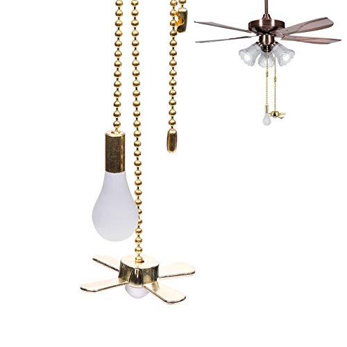 Hunter - Lámpara colgante de ventilador con cadena de extensión de 13.6 pulgadas, ventilador de techo decorativo para ventilador de techo y ventilador de techo (latón)