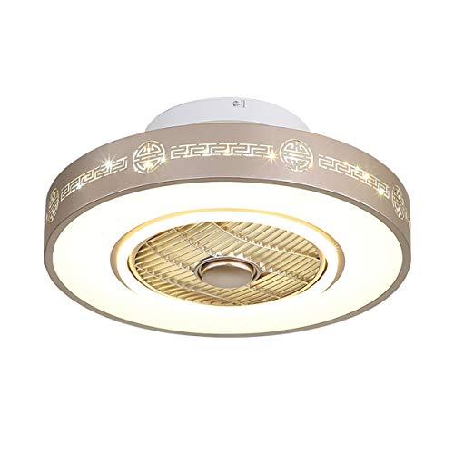 Lámpara de techo moderna minimalista dormitorio de la lámpara de iones negativos ventilador de la lámpara principal del restaurante de la lámpara LED de la lámpara de techo redondo (Size : Small)