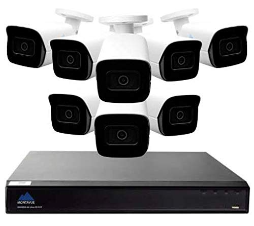 Sale!! Montavue Smart Motion Detect Home Security System 16 Channel NVR w/ 8 5MP IP Security Audio B...