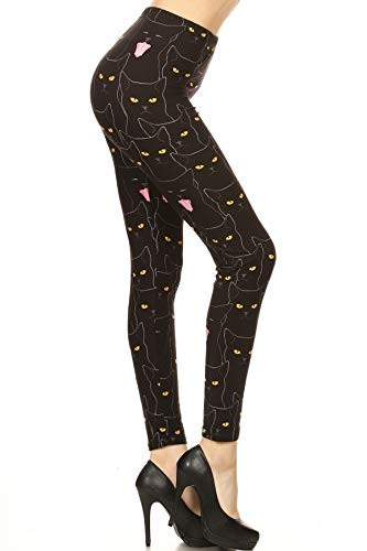 R862-PLUS CATmouflage Print Fashion Leggings