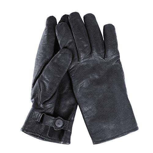 Copytec BW Leder Handschuhe schwarz Bundeswehr Heer Marine Luftwaffe #36641, Größe:M, Farbe:Schwarz