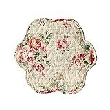 BLANC MARICLO' Set 2 tovagliette americane a fiori microfibra avorio 38x38 cm