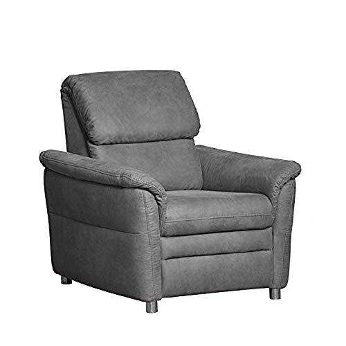 Cavadore Sessel Chalsay / mit Federkern / moderner Polstersessel / Größe: 90 x 94 x 92 cm (BxHxT) / Farbe: Grau (argent)