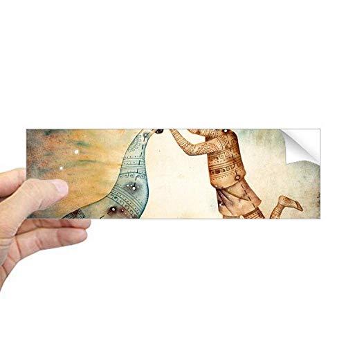 DIYthinker januari februari Aquarius sterrenbeeld Zodiac Rechthoek Bumper Sticker Notebook Window Decal