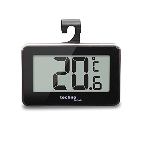 Technoline WS 7012 Thermomètre pour Réfrigérateur Noir/Argent