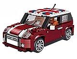 Modbrix Bausteine Auto Cooper 1:24 Konstruktionsspielzeug mit 492 Mini Klemmbausteinen