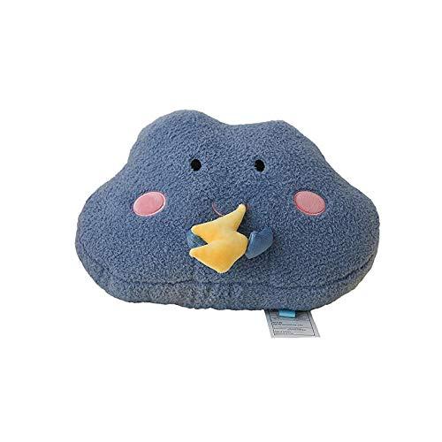 YYGQING 創造的な雲のぬいぐるみ枕ぬいぐるみぬいぐるみのおもちゃかわいいベッド装飾的なクッション柔らかいソファ枕カワイイの贈り物 ぬいぐるみ (Color : 2)