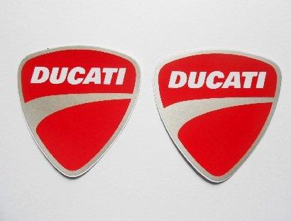 DUCATI stickers decals adhesivo - Rojo Blanco Gris - Motorbike - Motorsport - Motorcycles - Biker - set of 2 pieces