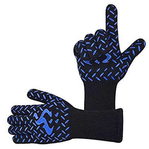 BBQ handschoenen hittebestendige handschoenen grillen barbecue handschoenen keuken accessoires onderarm beschermer voor koken hittebestendig tot 800 ° C siliconen handschoenen