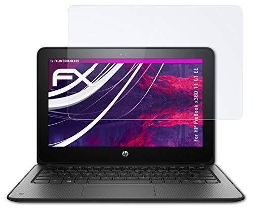 atFolix Glasfolie kompatibel mit HP ProBook x360 11 G1 EE Panzerfolie, 9H Hybrid-Glass FX Schutzpanzer Folie