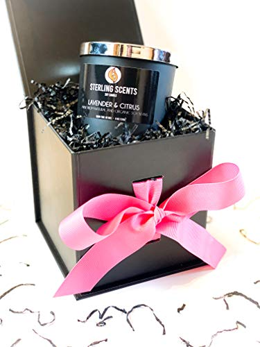 Sterling Scents Mothers Day Limited Edition Gift Boxed Aromatherapy Candle – Blended with 100% Organic Soy Wax and infused with essential oils of Lavender & Citrus (8oz | 226g) Burn Time 48hrs+