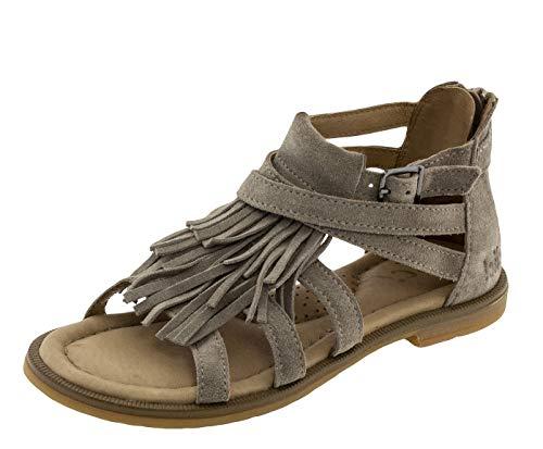 Clic! Römer Sandalen mit Franzen Mädchen Damen Leder Beige 8909, Schuhgröße:EUR 39