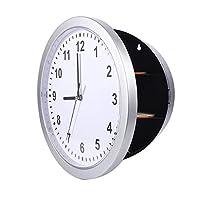 【Wanduhr-Safe】 - Wie ein mysteriöses Gerät aus einem Spionagefilm verbirgt diese lässige Uhr diskret ein Klappfach zur Aufbewahrung von Wertsachen. Der perfekte Ort, um Ihre Wertsachen zu verstecken, ist im Geheimfach hinter dieser Uhr. 【3 Lagerregal...