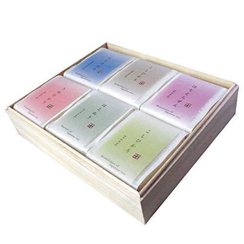 偲び米 お米ギフト香典返し 食べ比べ 桐箱入り 帯包装 のし付き(偲草) 3合袋(450g)×6品種