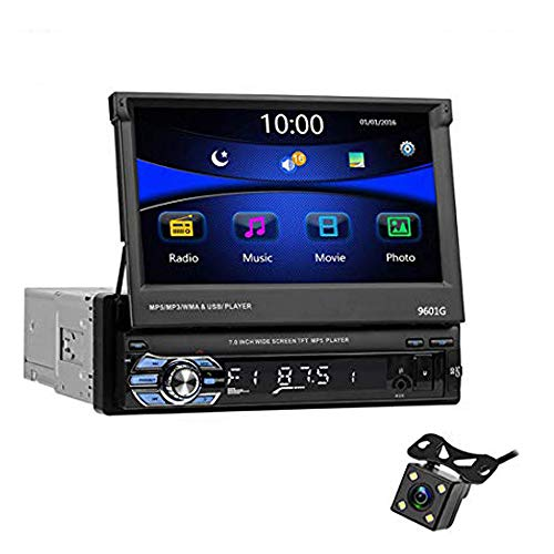 Autoradio 9601G + 4LED + 8G Map Touch Screen BT Radio Universale FM da 7 Pollici per Auto Lettore Radio GPS Contiene GPS