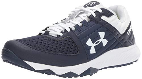 Under Armour Men's Yard Trainer Baseball Shoe, Navy (401)/White, 4.5