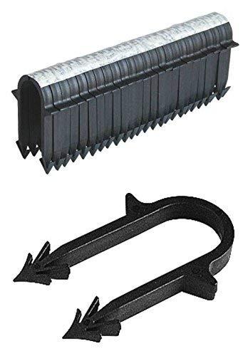 Rohrschellen für Fußbodenheizung, UFH-Rohrschellen, Länge 50 mm, für Rohrdurchmesser 15-20 mm, 250 Stück
