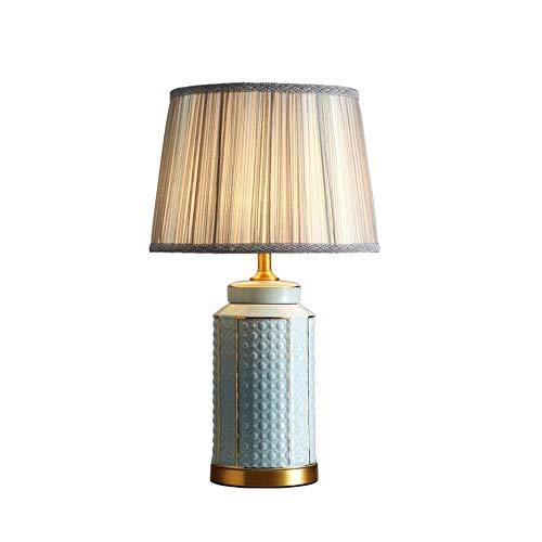HHJJ Lámparas de Mesa de latón Luz de Escritorio de cerámica para hogar Sala de Estar Comedor Dormitorio Oficina Lamp-31959P9F9C