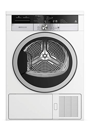 GRUNDIG Kondenstrockner mit Wärmepumpentechnologie GTA 38263 G / Kombinierter Filtermechanismus / 14 Programme / 8 kg Beladungskapazität / GentleWave-Schontrommel