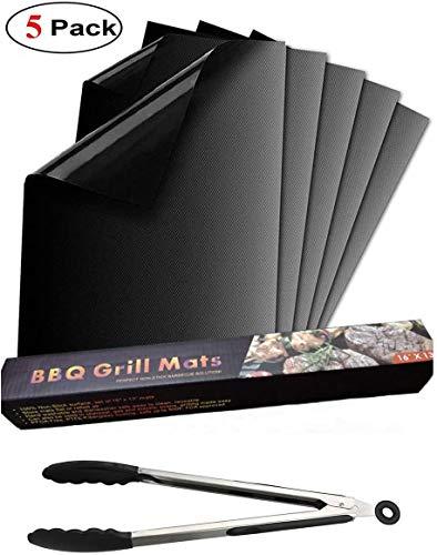 FIF BBQ Grillmatte Ofenauskleidung Antihaft-Grillbackmatten Wiederverwendbar für Holzkohle-, Gas- oder Elektrogrill - leicht zu reinigen,